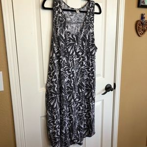 ON Racerback Tank Dress, Black & White Pattern